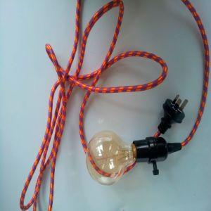 Red Cloth Covered Lighting Wire Plug& Vintage Cord Set (BYW) pictures & photos