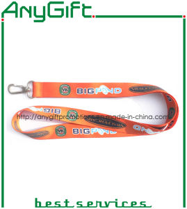 Heat Transfer Printed Woven Lanyard with Customized Logo (LAG-LY-23) pictures & photos