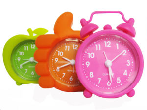 Promotional Colorful Lovely Cartoon Mini Silicone Desk Alarm Clock pictures & photos