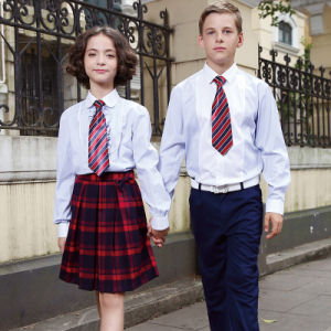 Wholesale White Cotton Shirt for Students School Uniform pictures & photos