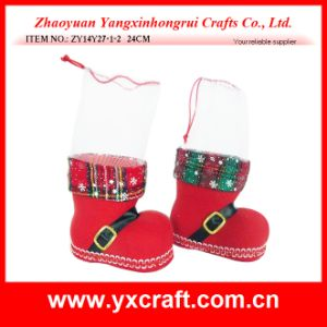 Christmas Decoration (ZY14Y27-1-2 24CM) Christmas Fabric Gift for Christmas pictures & photos