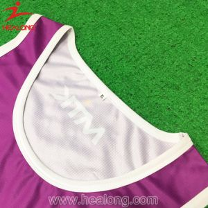 Healong Custom Sublimation Netball Jersey with High Quality pictures & photos