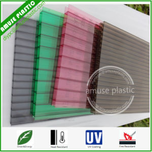 Colorful Plastic Decorative Material PC Twin-Wall Panel Polycarbonate Sheets pictures & photos