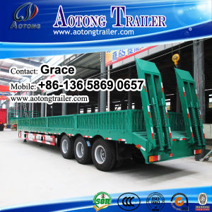 30tons-100tons Lowbed Low Loader Lowboy Semi Trailer with Side Wall / Side Boards pictures & photos