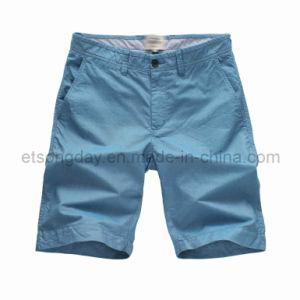 Light Blue Hight Quantity 100% Cotton Men′s Shorts (BS14-0355) pictures & photos