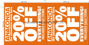 LDPE/HDPE Printed Banner pictures & photos