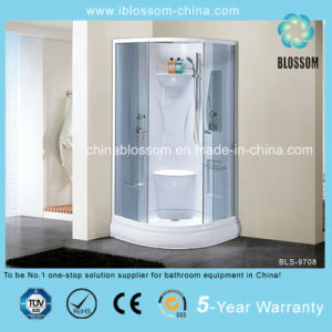 Competitive Price Grey Glass Complete Shower Cabin/Room/Enclosure (BLS-9708) pictures & photos