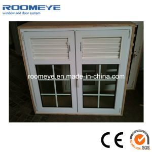 PVC Casement Window with Grill French Style pictures & photos