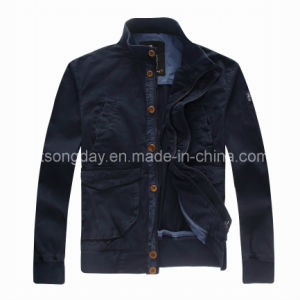 Black 100% Cotton Men′s Casual Jacket (R57185DC01M) pictures & photos