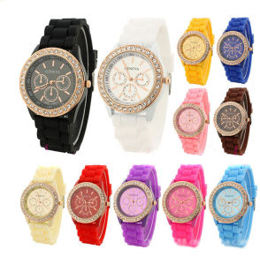 Crystal Jelly Gel Silicone Quartz Wrist Watches pictures & photos