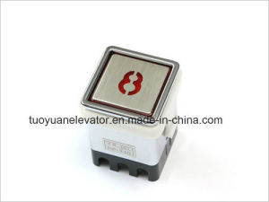 Square Shape Push Button with Braille for Elevator Parts (TY-PB13B)