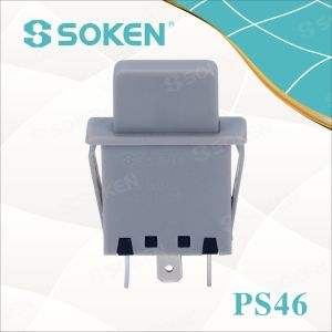 Soke Refrigerator Door Lamp Push Button Switch PS46 1 Pole pictures & photos