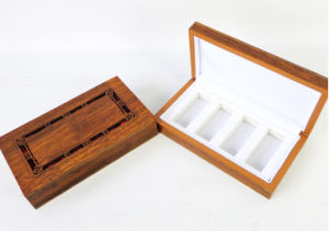 Carving Wooden Creams Box with EVA Insert pictures & photos