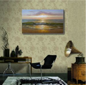 Painting of Sea Wave in Sunset pictures & photos