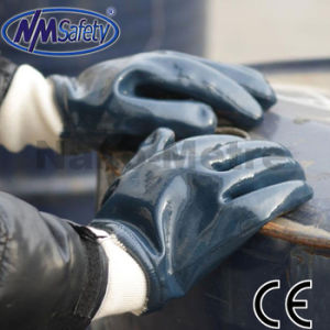 Nmsafety Heavy Duty High Quality Nitrile Working Glove pictures & photos