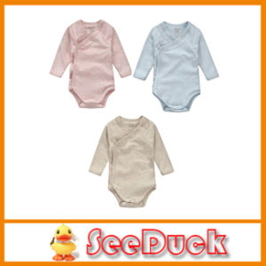China Plain Good Quality Rompers 100% Organic Cotton Blank Baby Clothes Ks1562