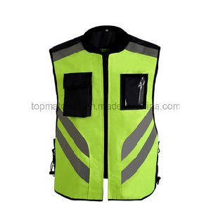 Reflective Vest Yellow En 20471 Reflective Running Vest for Outdoor Sports pictures & photos