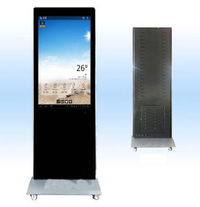 Advertising with LCD Advertising Video Display with Wheels pictures & photos