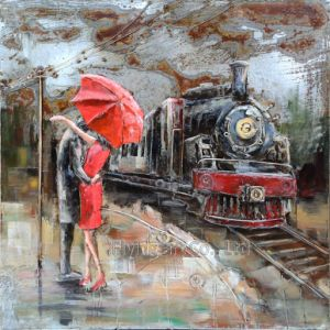 3D Metal Oil Painting Wall Art for Dating pictures & photos