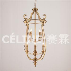 Four Lights Antique Brass Iron Pendant Lamp (SL2189-4) pictures & photos