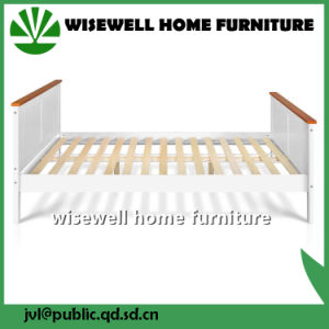 Pine Wood Bi-Color Double Bed Frame (W-B-5055) pictures & photos