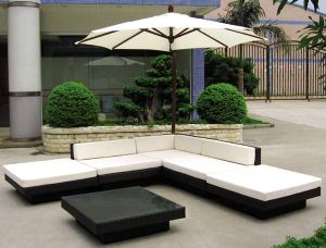 Hot Sale Black Sofa Rattan Furniture pictures & photos