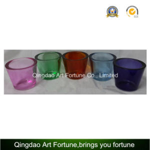 Hot Sale Glass Tealight Holder with Think Wall-Small Colorful pictures & photos