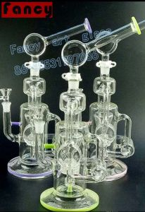Glass Smoking Water Pipe with Recycler Oil Rigs pictures & photos