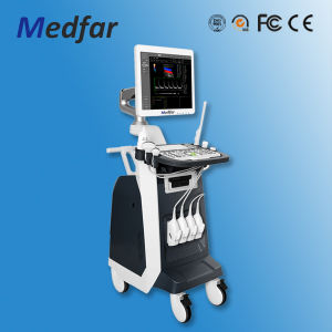 Medical Equipment Trolley Full Digital 4D Color Doppler Scanner Ultrasound MFC8100 pictures & photos