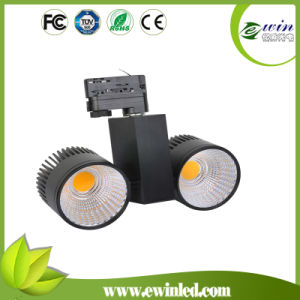 135lm/W CRI>82 2*30W LED COB Tracklight with 3 Warranty pictures & photos