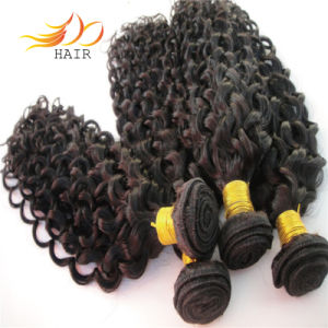 Natural Color Jerry Curl 6A Indian Virgin Human Hair pictures & photos