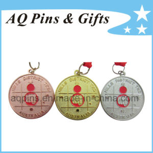 Sand Blast Medal with Red Ribbon pictures & photos