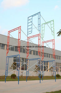 Powder Coated Painting Scaffolding Ladders pictures & photos