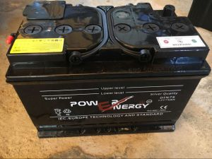 DIN75 12V75ah Dry Chraged Car Battery pictures & photos