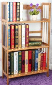 Bamboo Commodity Shelf Display Rack for Household Bookcase (QW-JCSG001) pictures & photos