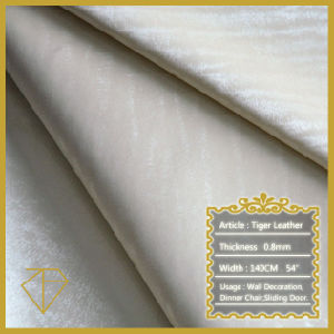 Hot Sale Upholstery Leather for Home Decoration (Semi-PU Leather)