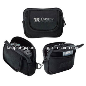 Fashionable Black Neoprene Pouch for Camera, Neoprene Camera Case