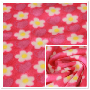 FDY 150d/96f 100%Polyester Floral Printed Polar Fleece Print Terry Fleece, Garment Fabric, Blanket Fabric. pictures & photos