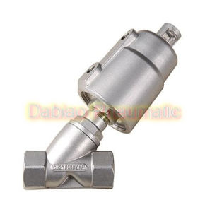 All Stainless Steel Poston Operated Angle Seat Valve 1/2′′ Jzf-15s pictures & photos