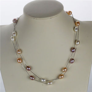 Snh 925 Sterling Silver Natural Real Pearl Necklace Jewelry Wholesale