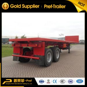 2 Axles 40ft Flatbed Head Board Trailer for Sale