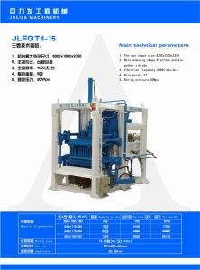 Hydraulic Hollow Automatic Cement Brick Machine  JW-QTY10-15