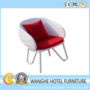 Garden White Rattan Set Leisure Outdoor Furniture Round Chair pictures & photos