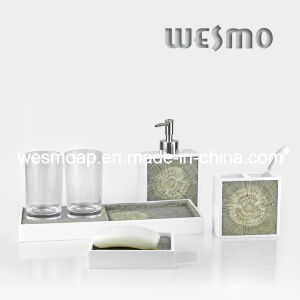 Polyresin Bath Set with Imitation of Wood Texture (WBP0288A) pictures & photos