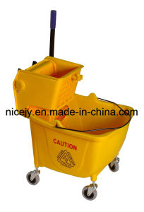 46L Plastic Mop Wringer with Single Bucket