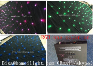 Double Decker Fireproof Velvet 4*6m RGB Light Star Curtain LED Star Curtains Outdoor LED Curtain pictures & photos