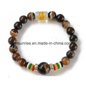 Semi Precious Stone Natural Crystal Beaded Bracelet Bangles pictures & photos