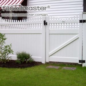Privacy Fence Gate with 100% Virgin Vinyl pictures & photos