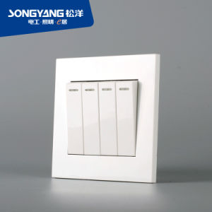 Electric Switch White Series 4gang Wall Switch