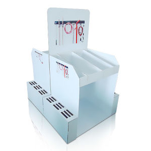 Point of Sale Corrugated Floor Display, Cardboard Standing Display Rack for Tools pictures & photos